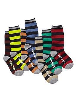 Days Of The Week Socks Stripe Days Of The Week Socks 7 Pack Kids Socks Socks