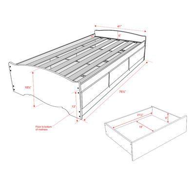 Prepac Monterey Storage Platform Bed u0026 Reviews   Wayfair  sc 1 st  Pinterest & Prepac Monterey Storage Platform Bed u0026 Reviews   Wayfair   Chambre ...