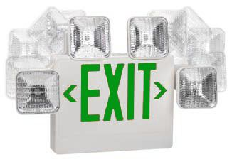 Adjustable Green Led Exit Sign Combo Remote Capable Exit Sign Green Led Emergency Lighting