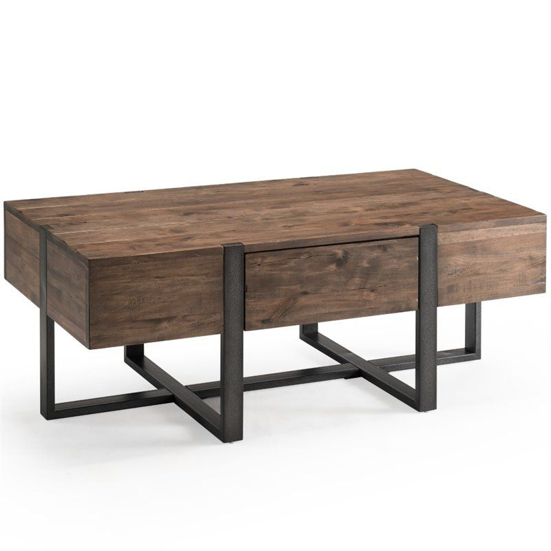 Magnussen Prescott Modern 48 X 24 Coffee Table In Rustic Honey