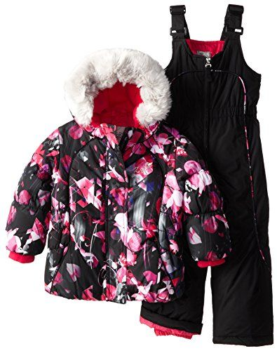 Zeroxposur Little Girls Jeanne Snowsuit Set Black Small