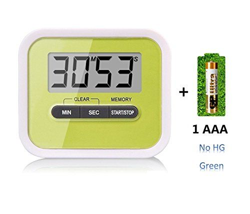 Tooge Kitchen Gadgets Lcd Digital Timer Count Up And Countdown Timer Cooking Kitchen Timer Maximum To 99 Minutes 59 S Kitchen Timers Home Gadgets Digital Timer