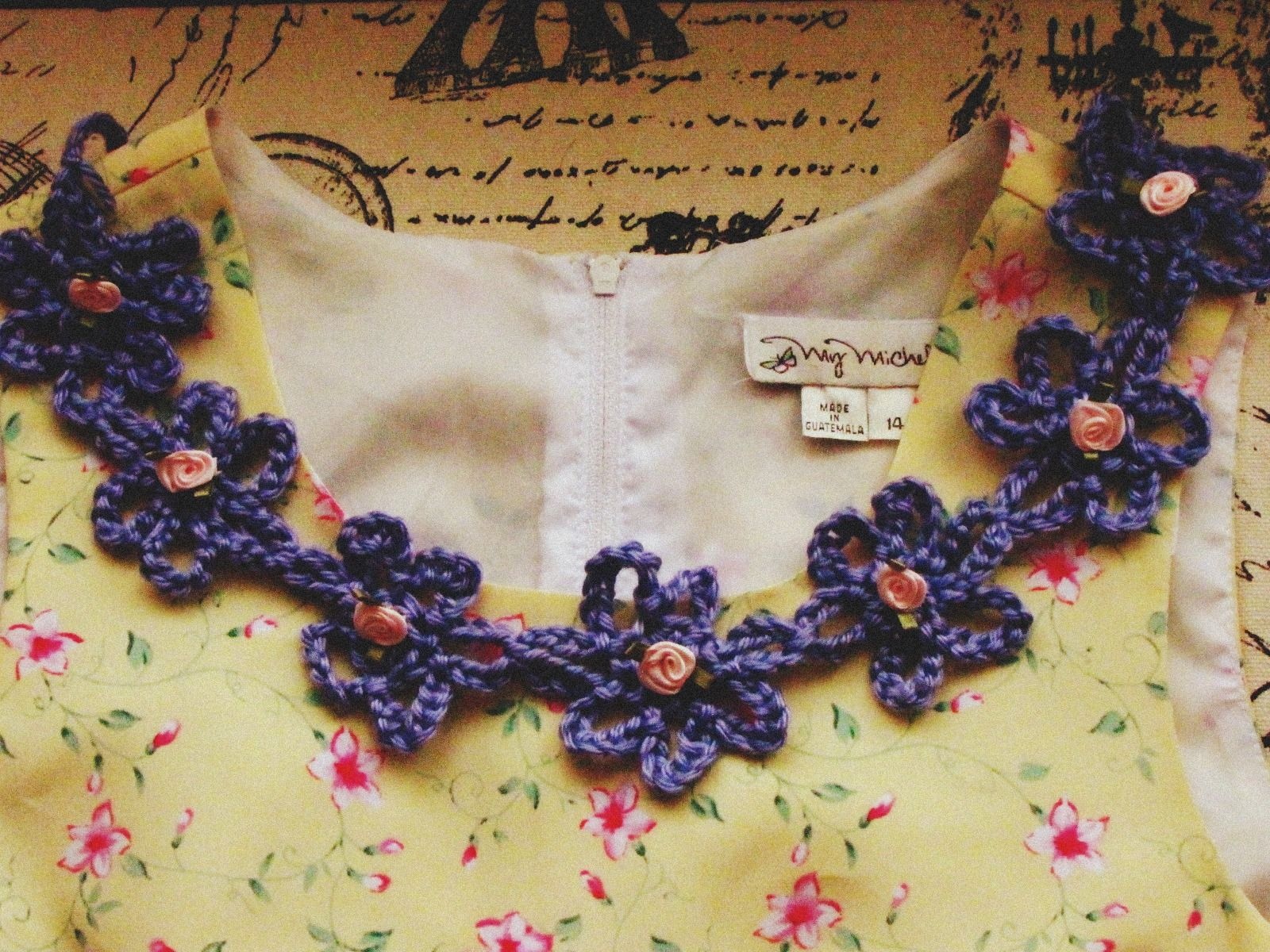 Crochet Flower Collar, free pattern by Dream in Vintage, thanks so ...