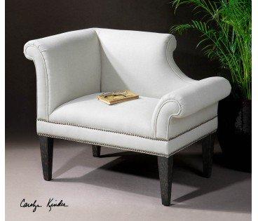 #colemanfurniture.com #accent Furniture #Fontaine #White #Linen #Armchair,