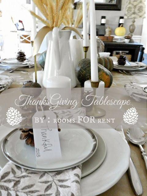 A Thankful Themed Thanksgiving Tablescape {2013}