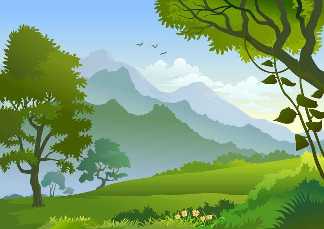 120 Free Vector Landscape Background For Designers Idei Ozeleneniya Pejzazhi Letnij Pejzazh