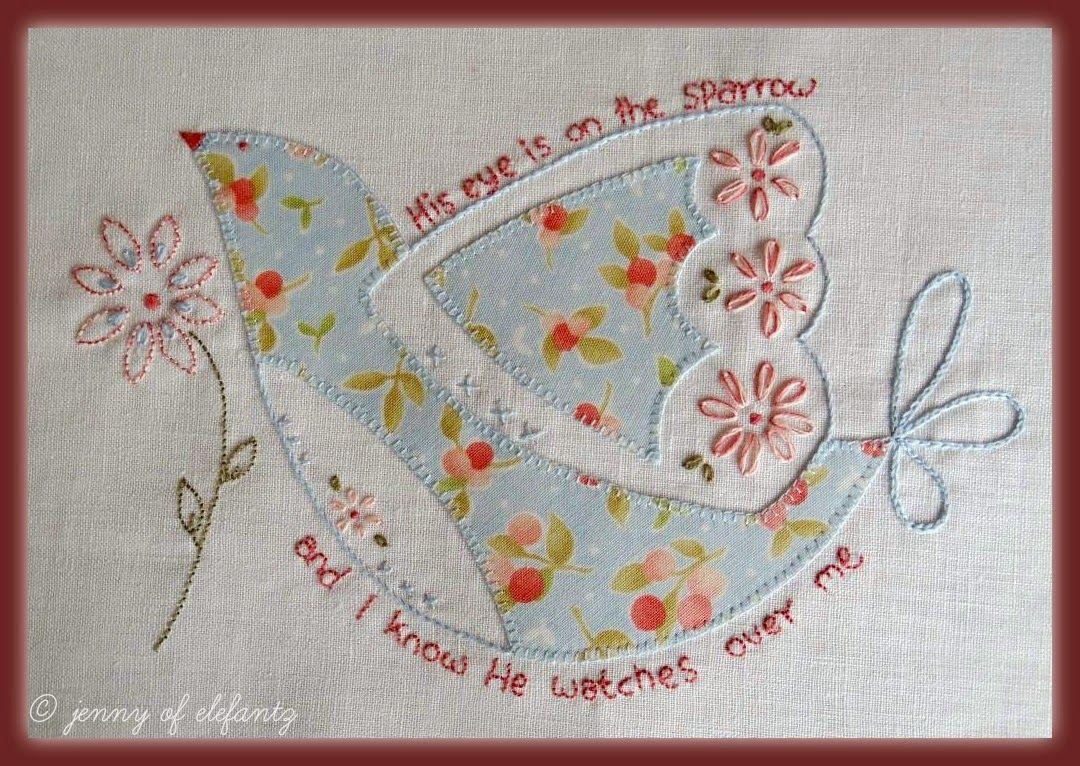 Jenny of ELEFANTZ: Sparrow - a free design for you to stitch...