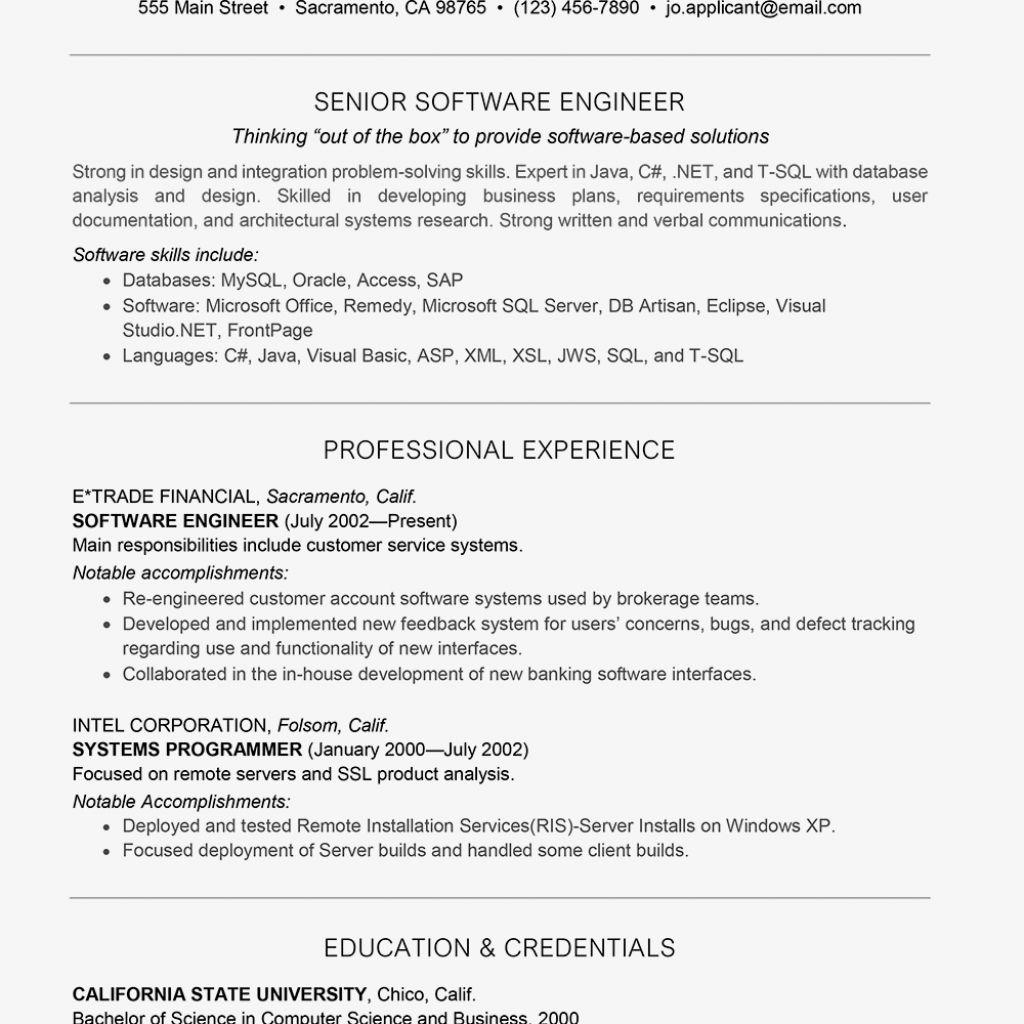 Software Developer Resume 2021 In 2021 Engineering Resume Resume Examples Resume Software