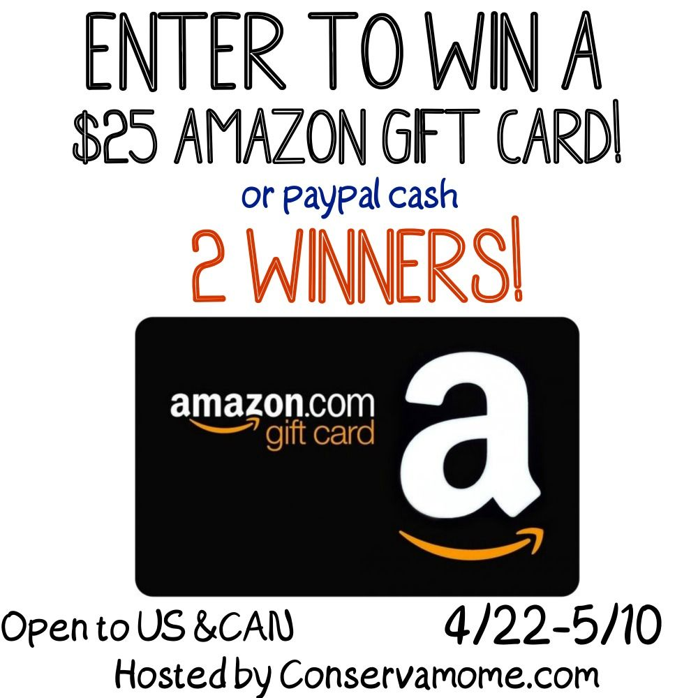 25 Amazon Gift Card Giveaway Ends 5 10 Open To Us Can Paypal Gift Card Gift Card Giveaway Amazon Gifts