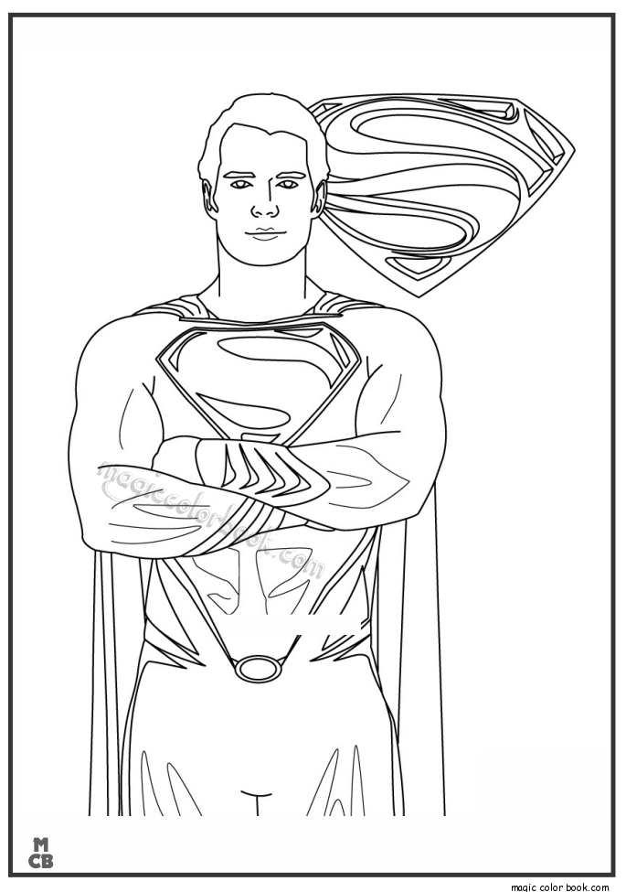 superman coloring pages printable 08 - Superman Pictures To Colour
