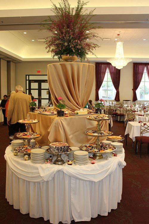 round table (With images) | Buffet set up, Buffet set, Catering ...
