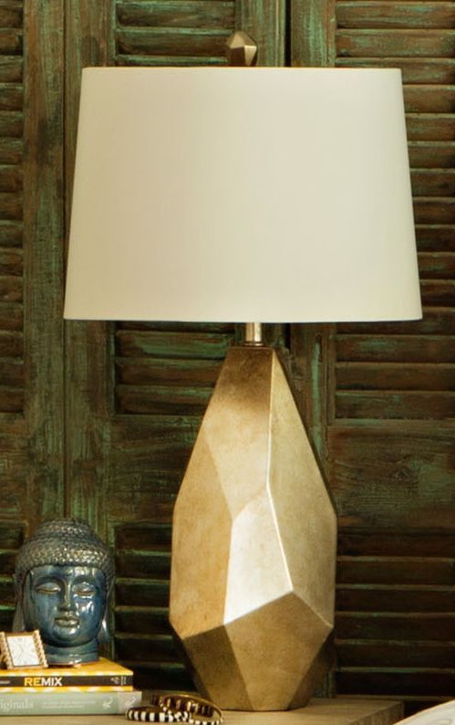 Table Lamp Faceted Gold Gold Table Lamp Gold Living