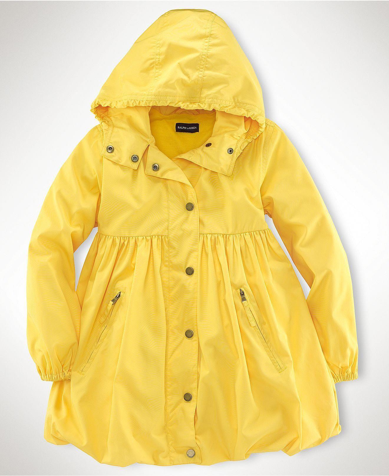 4bf3b1ae Classic yellow raincoat with a feminine twist - so darling! Ralph Lauren  Kids Jacket,