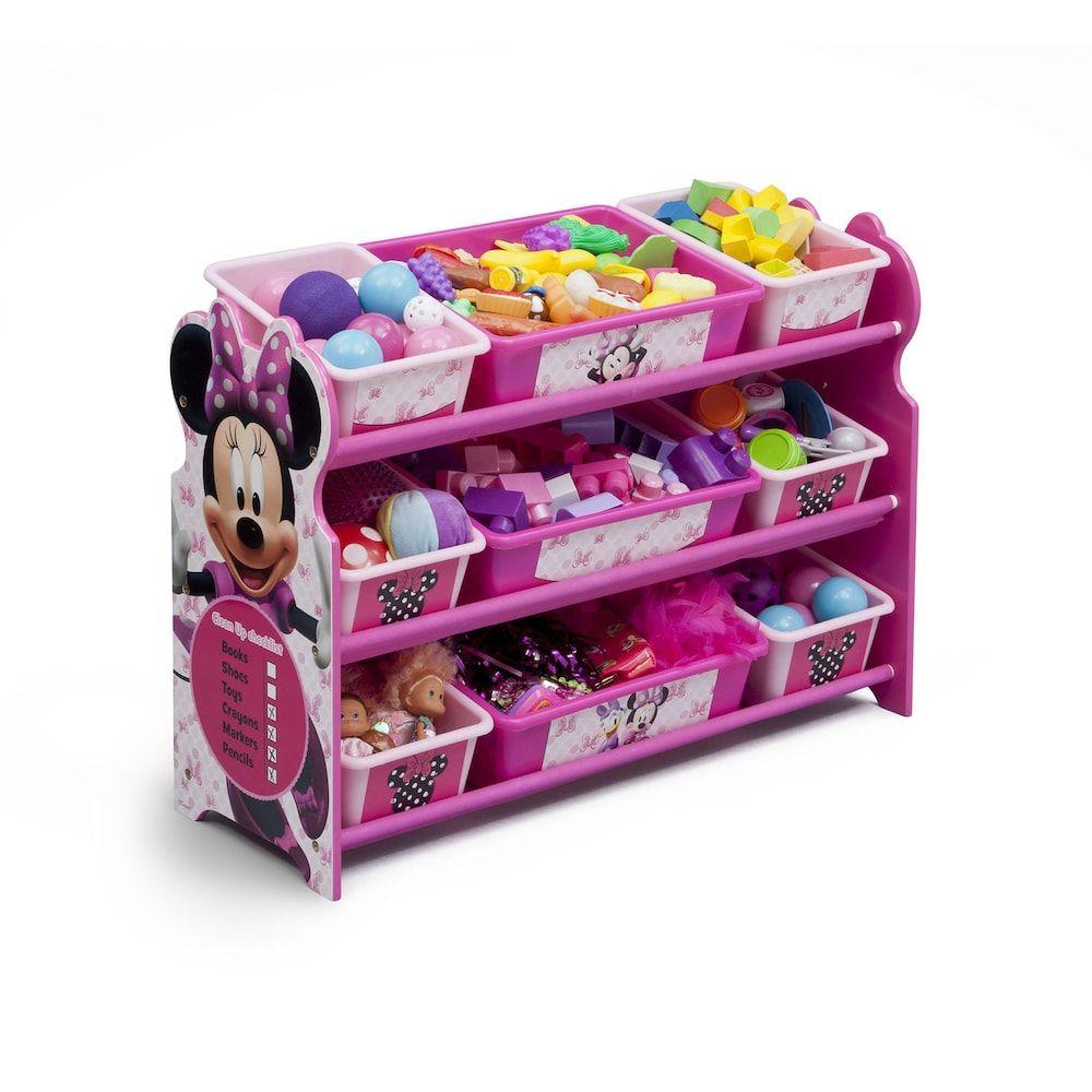 Disney S Minnie Mouse 9 Bin Plastic Toy Organizer By Delta