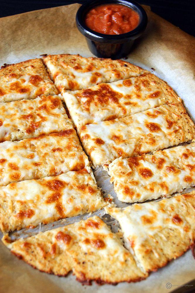 Cheesy Cauliflower Breadsticks Recipe Cauliflower Breadsticks