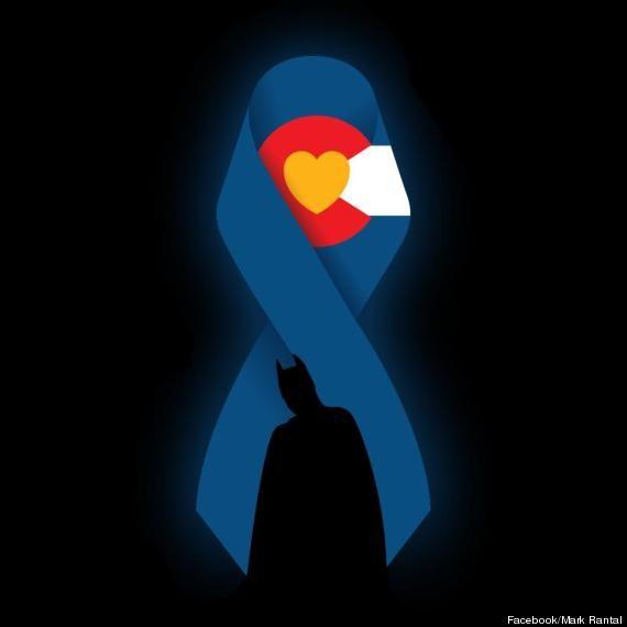 Dark Knight Rises Screening Shooting In Suburban Denver: Blue Ribbon Honors Victims Of Shooting