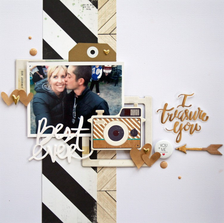 12 Scrapbook Layout Ideas for Couples in Love #scrapbook