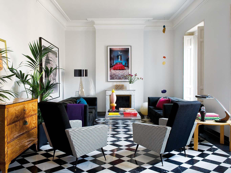 Classic Contemporary Apartment Interior Design Madrid Spain 1