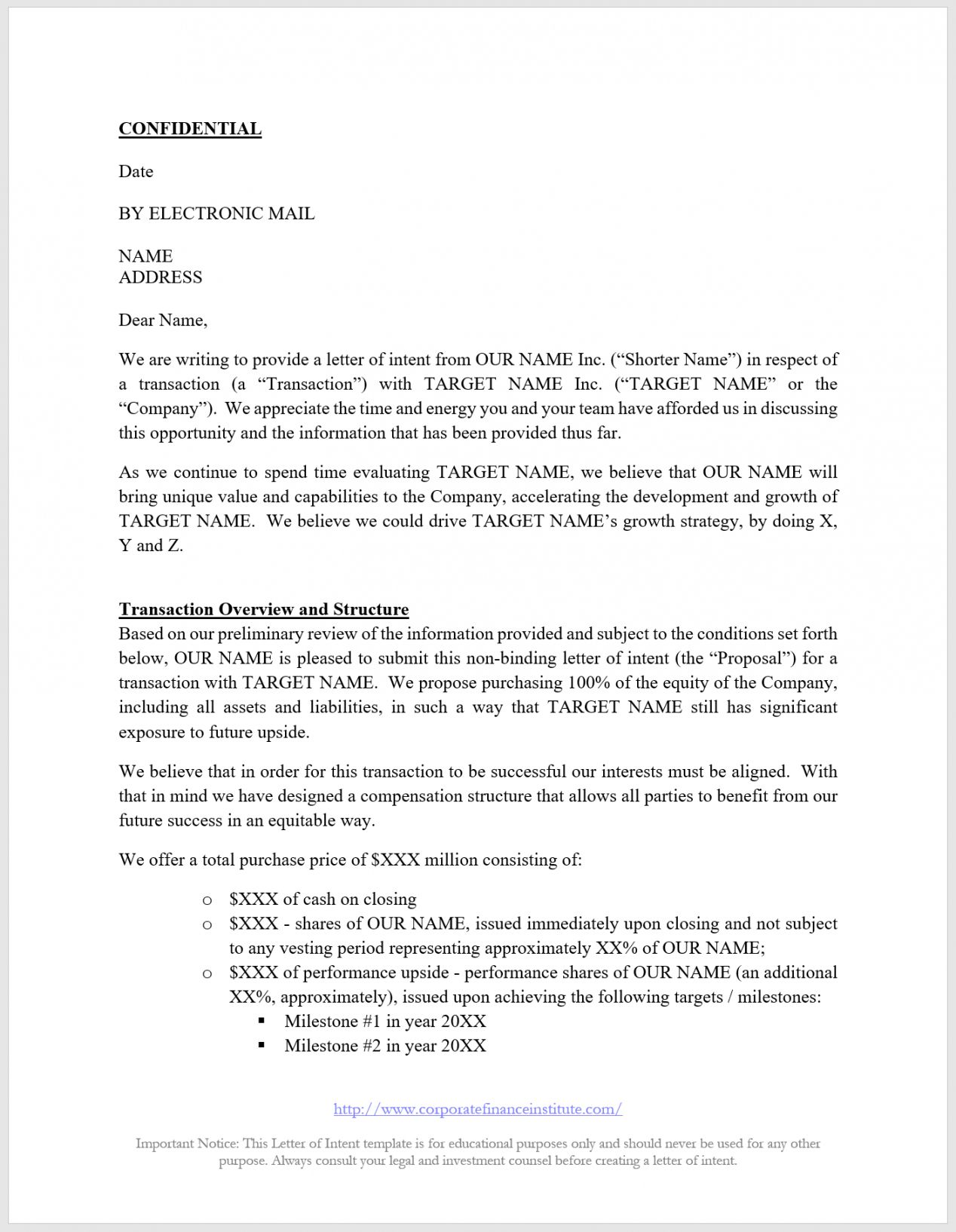 Angel Investor Proposal Template in 2020 Letter of