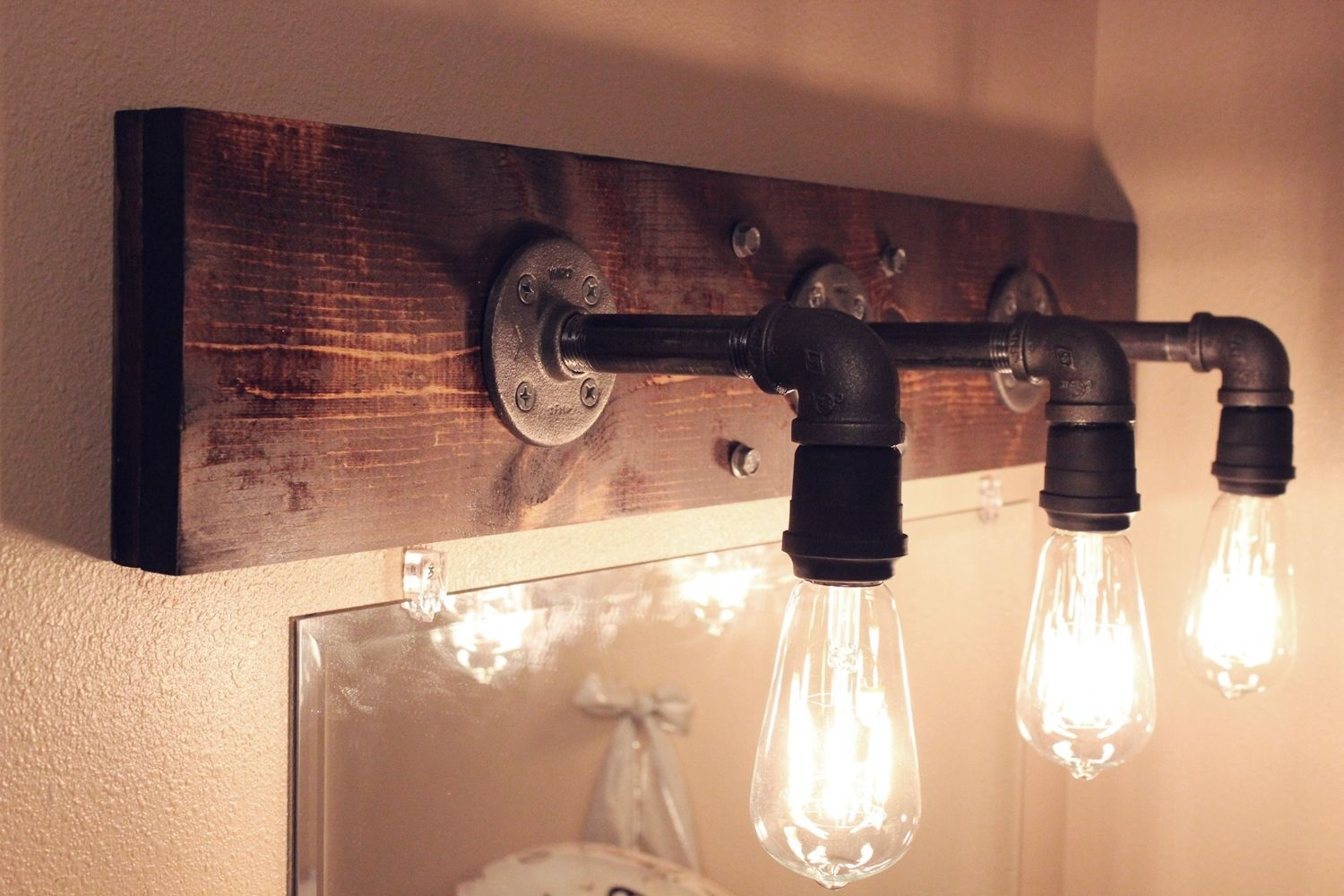 Bathroom Fittings Fixtures: DIY Industrial Bathroom Light Fixtures