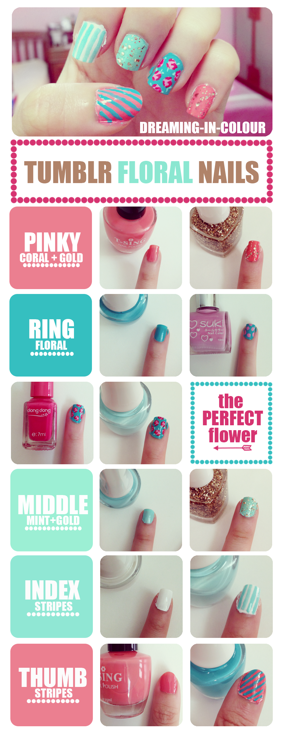 Tumblr Inspired Floral Nails Tutorial Nailsilsils