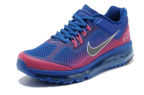 346a313dbca Nike Air Max 2013 Differentiation Men s Women s shoes Royal Blue Peach Red