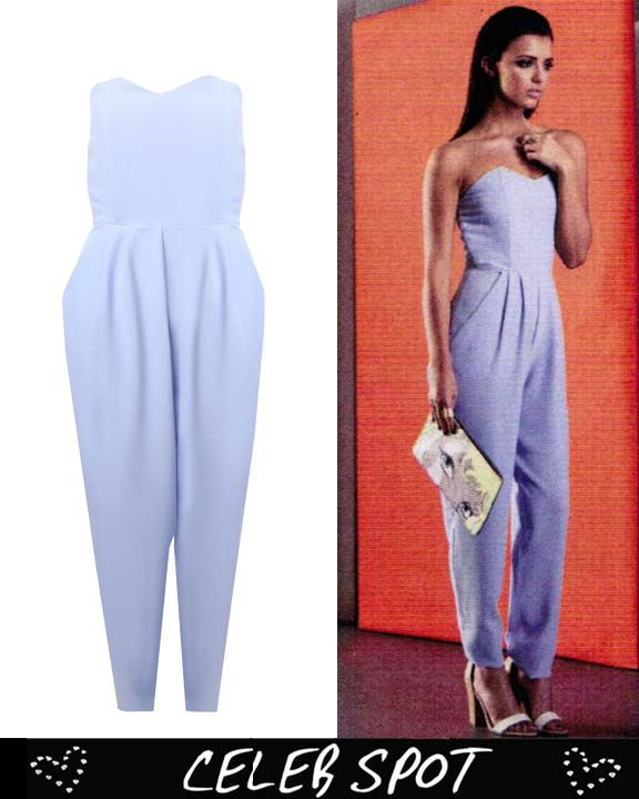 LOVE Powder Blue Strapless Jumpsuit - In Love With Fashion ...