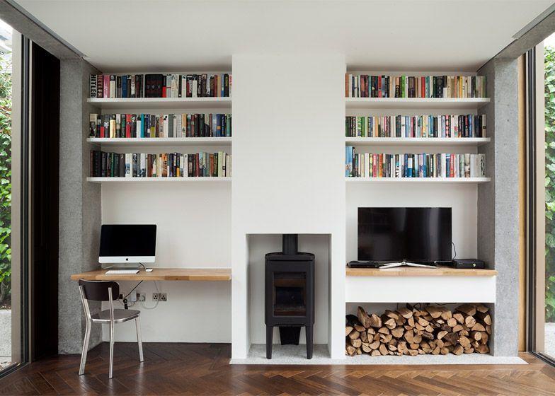 13 Of The Best Contemporary Irish Homes On Dezeen Contemporary Dezeen Homes Irish In 2020 Alcove Ideas Living Room Living Room Shelves Living Room Storage