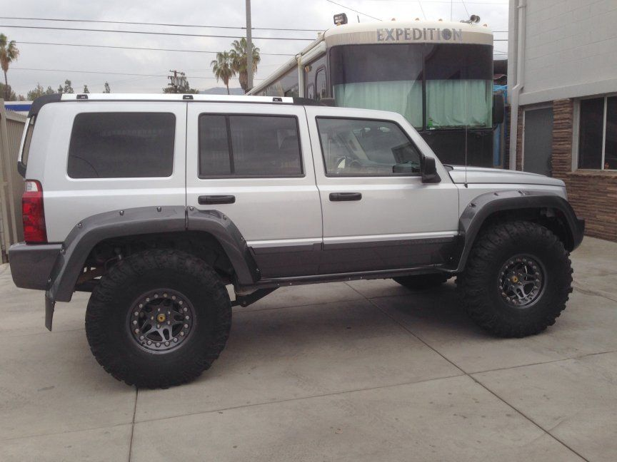 Clip On type Front Fender Flares Compatible with JEEP COMMANDER 2006-2010 RH Primed Standard Flare