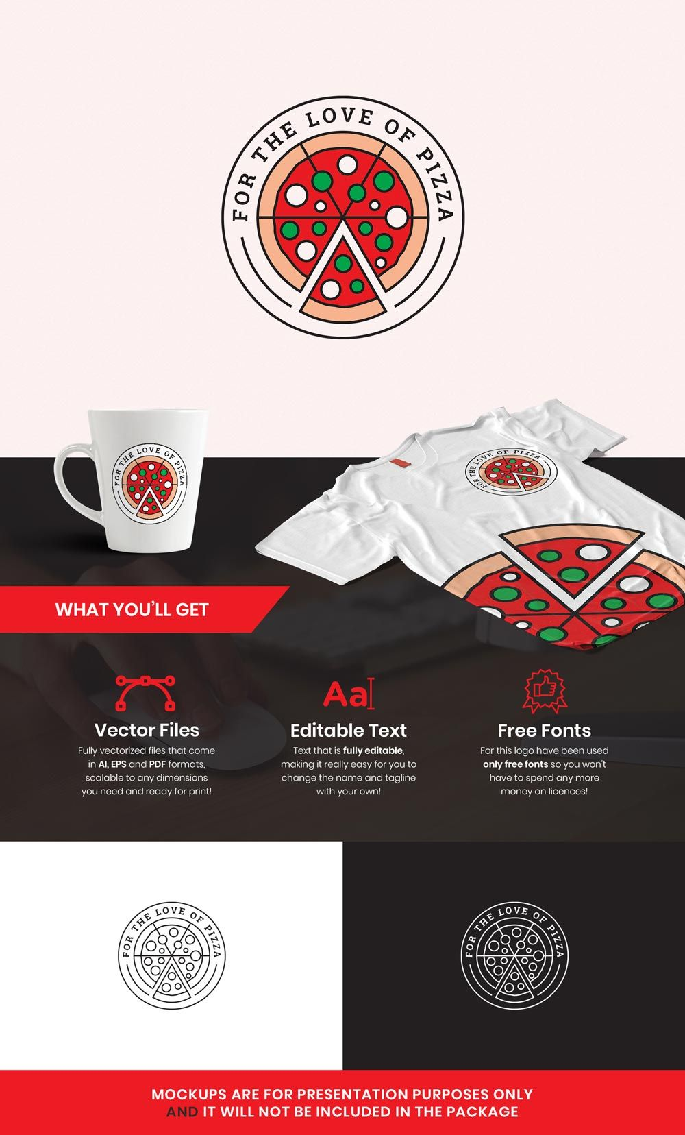 Love of Pizza Restaurant Logo Template » Design a Lot