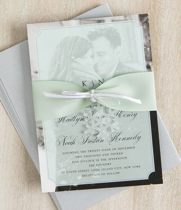 Diy Winter Wedding Invitations Creative Things For Your