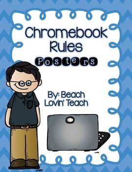Chromebook Rules Posters Chromebook Teaching Technology Classroom