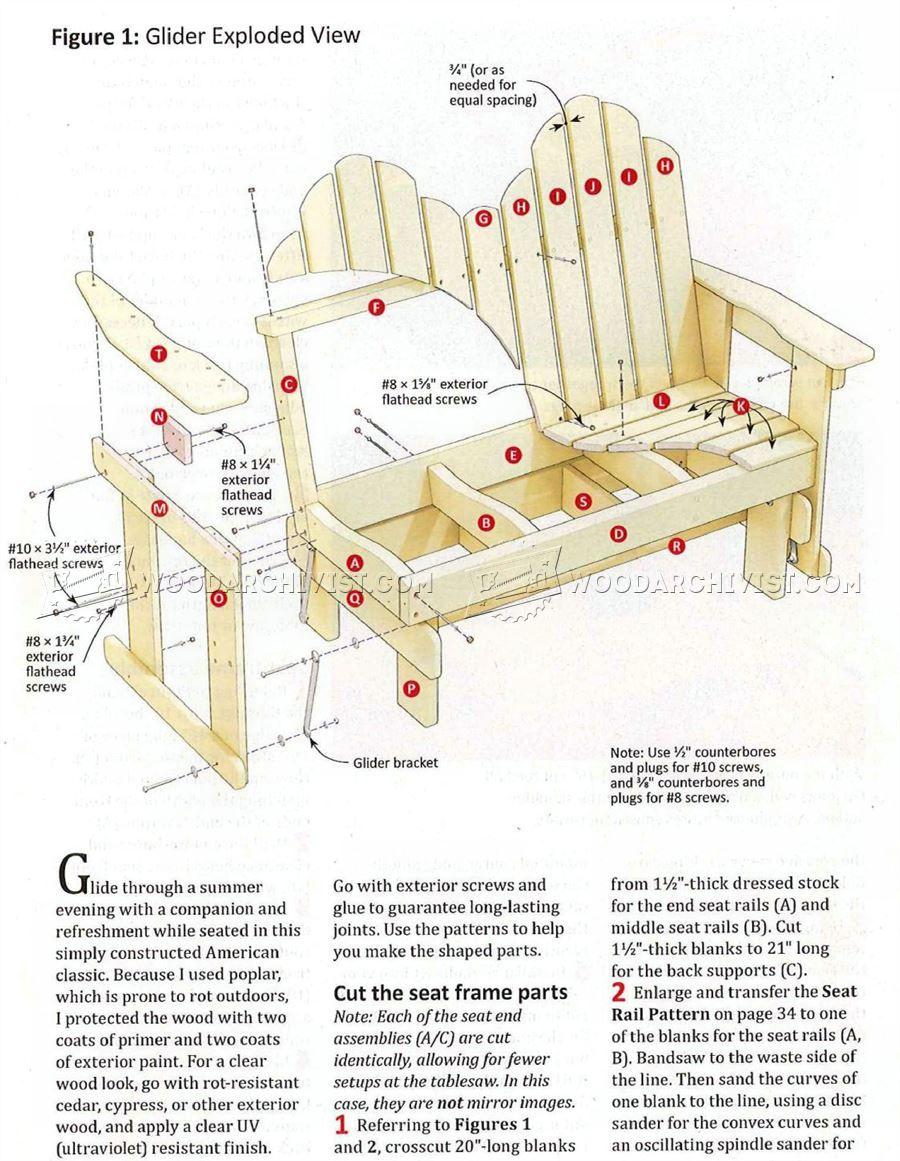 3181 Adirondack Glider Bench Plans Outdoor Furniture Plans Painting Wood Furniture Outdoor Furniture Plans Best Spray Paint