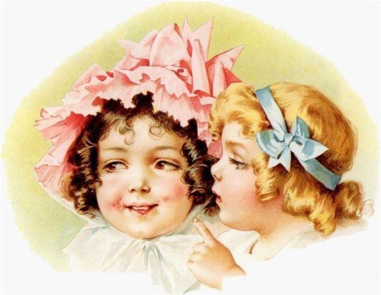 С днем рождения девочек близняшек старинные открытки