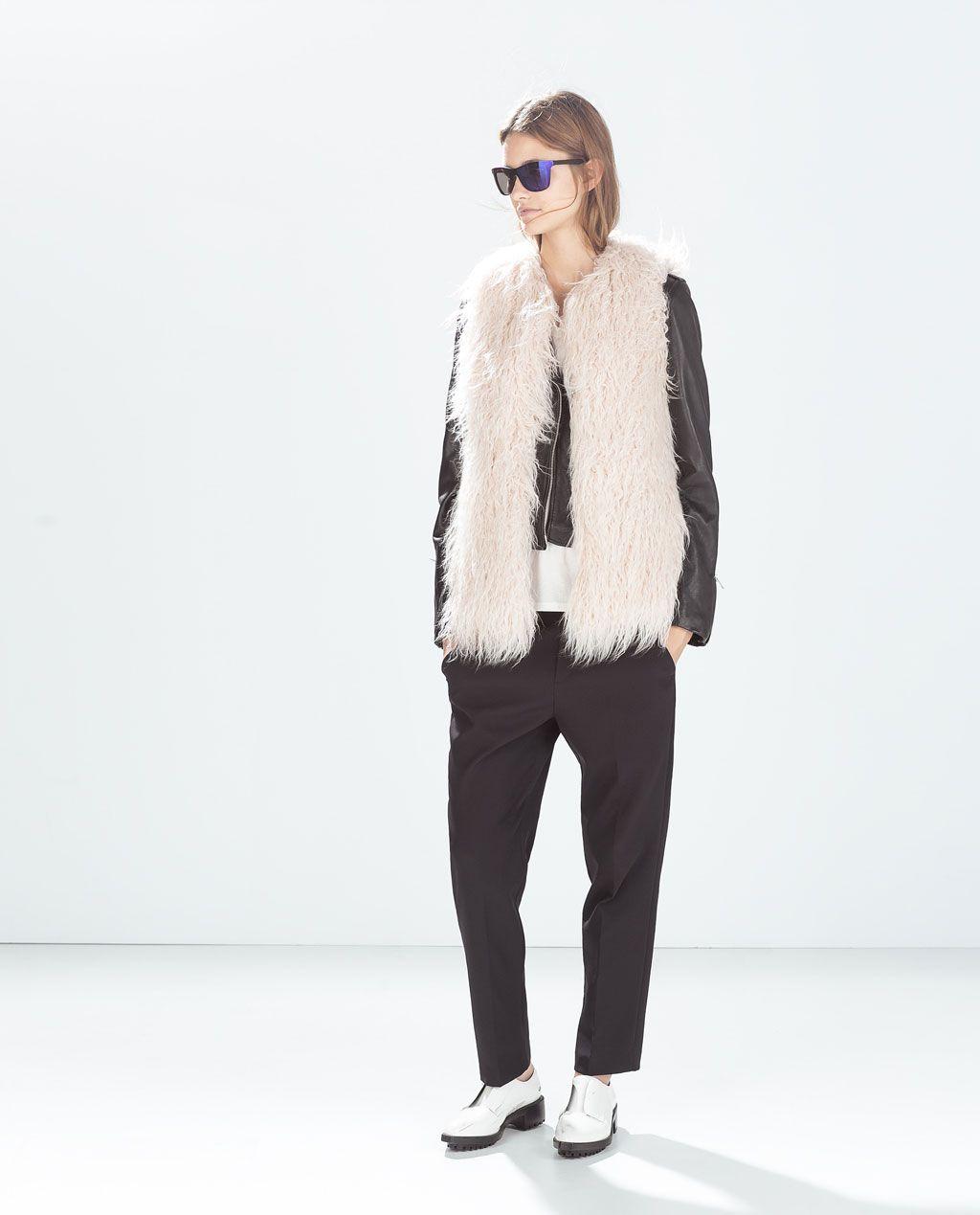 FUR VEST-Outerwear-TRF  f55d09e3d55c