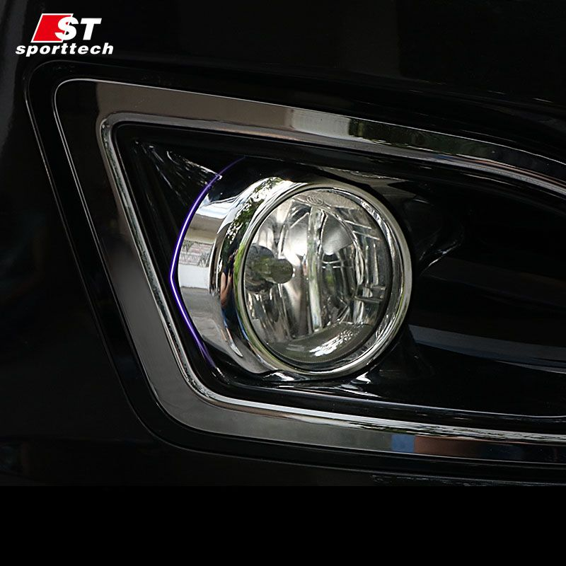 Car Styling Fog Light Cover Styling For Ford Edge Head Fog Lamp Trim Frame Sticker Light Source Styling For Ford Edge