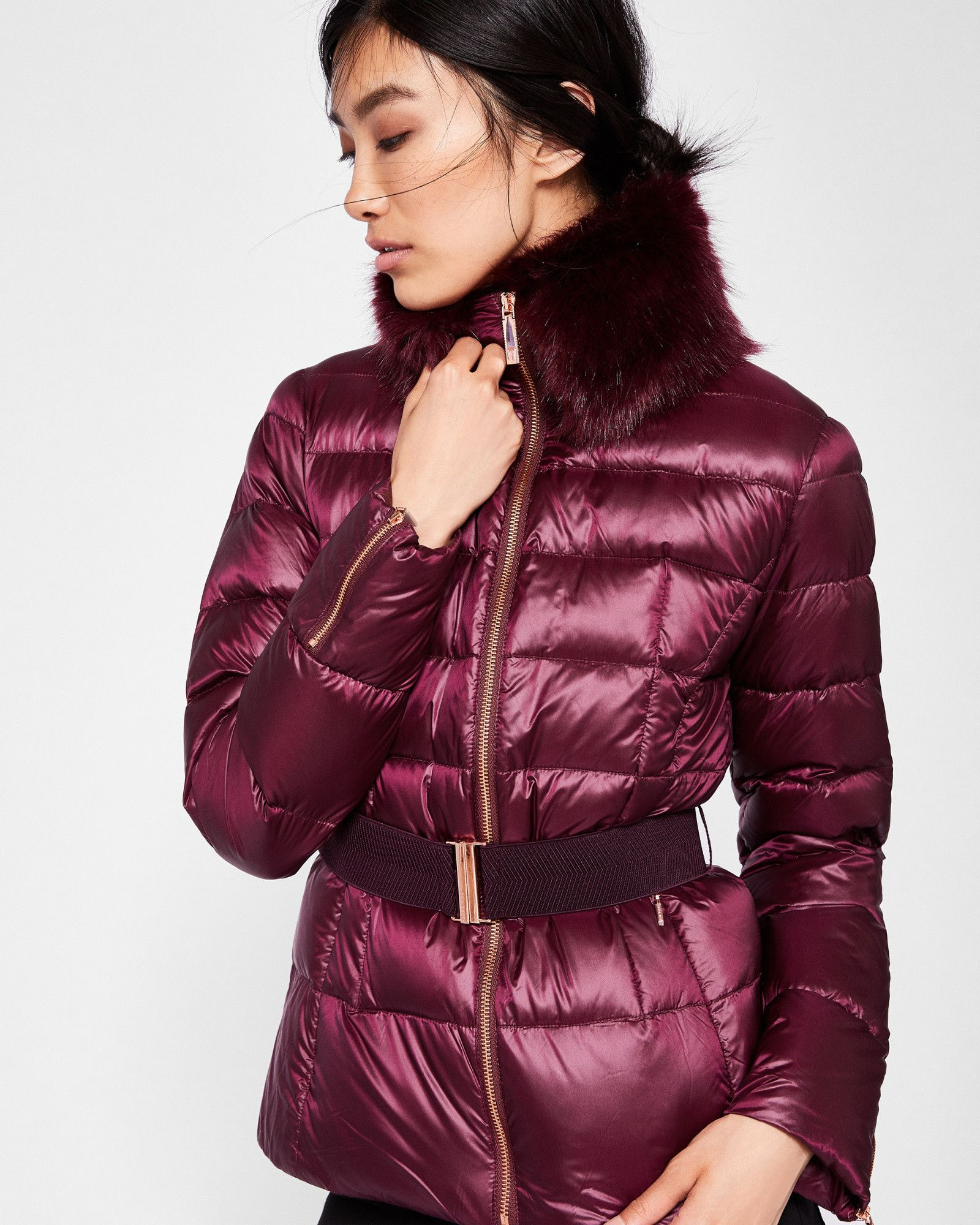 1d85296f563e JUNNIE Faux fur collar quilted jacket  TedToToe