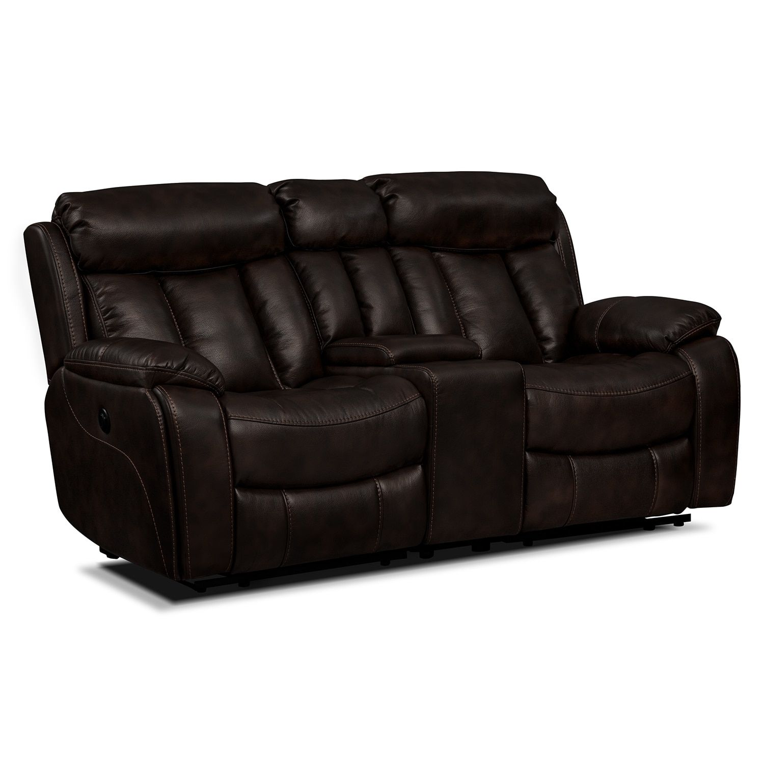 Diablo Power Reclining Loveseat Walnut Power Reclining