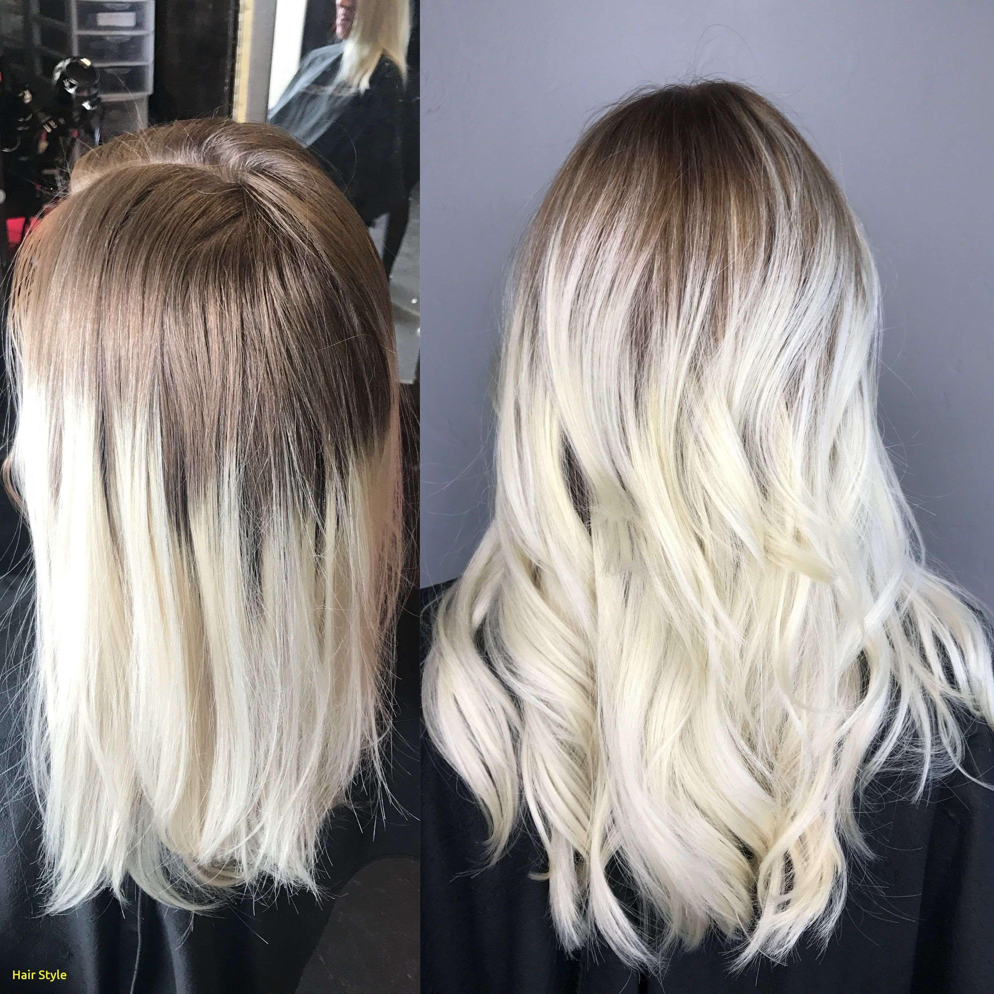 Schöne Platinum Blonde Auf Dunkler Haut Balayage Haare