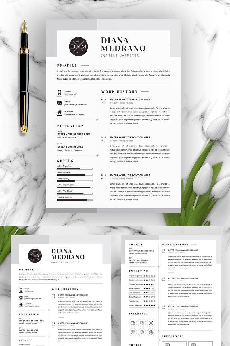 Diana Resume Template #96795, #Ad #Resume #Template #Diana ...