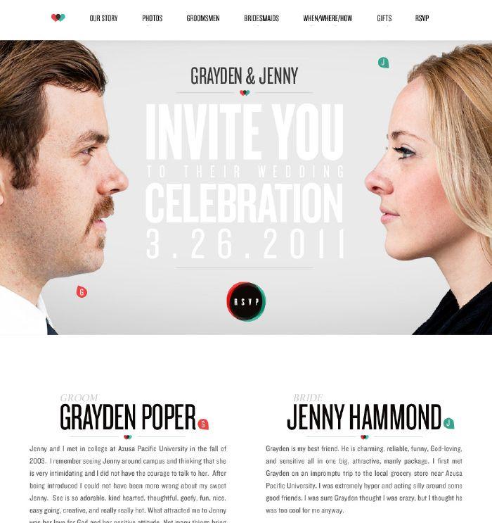 20 Beautiful Wedding Invitation Website Designs Wedding Beth