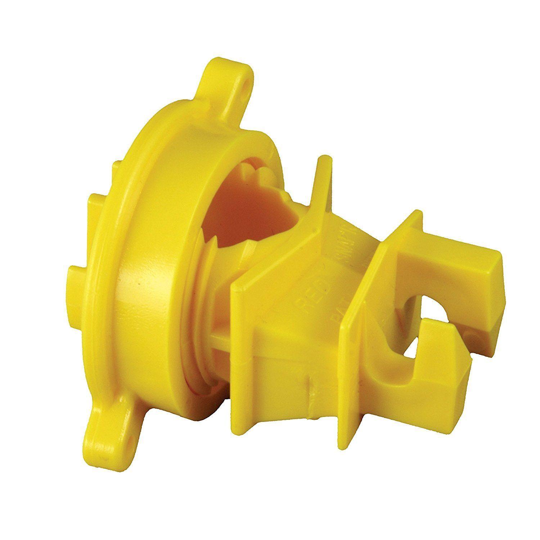Zareba Electric Fence Yellow Economy Round Post Insulator 50 Pack