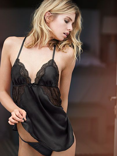 a07ce518d89 Satin   Chantilly Lace Babydoll - Very Sexy - Victoria s Secret ...