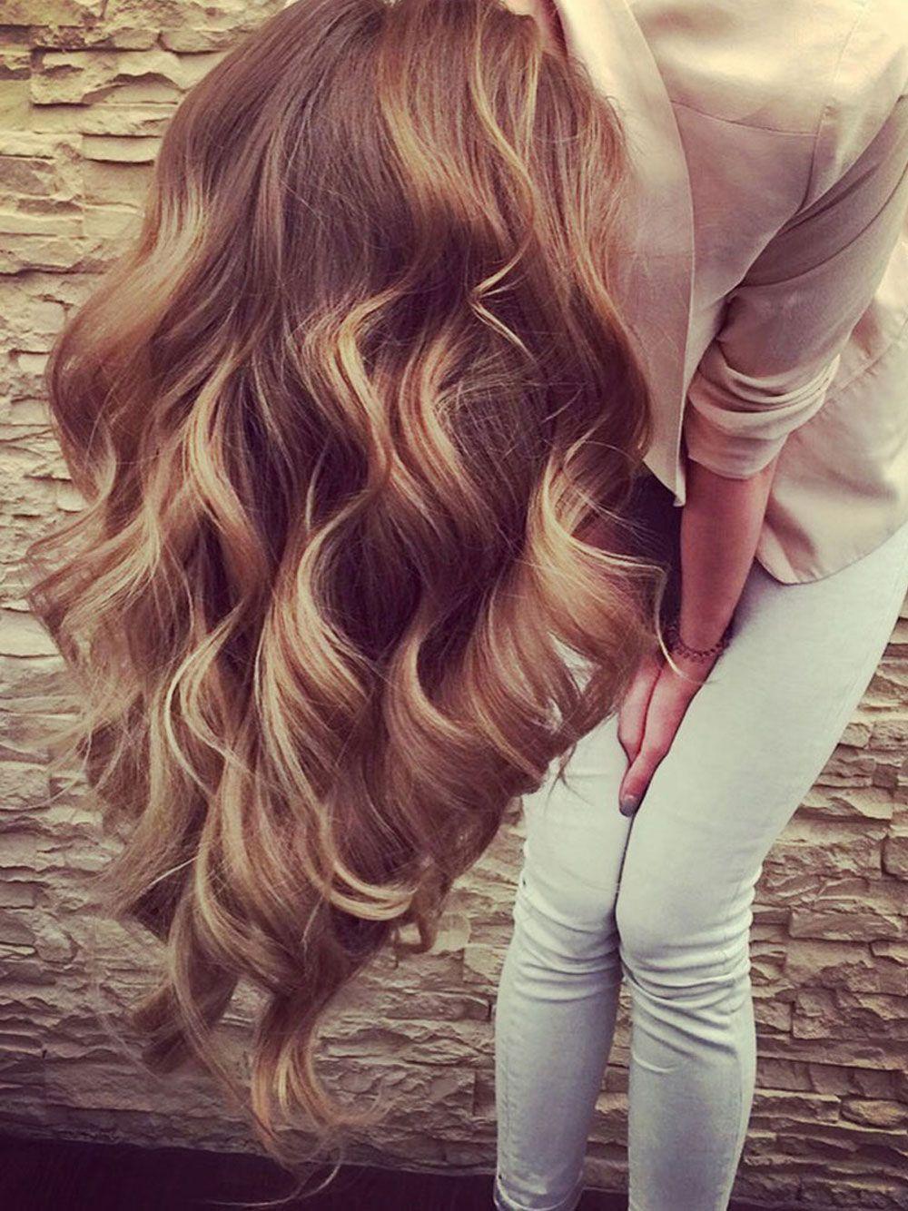 Balayage | Die schönsten Haarfarben | Haarfarben, Braune ...
