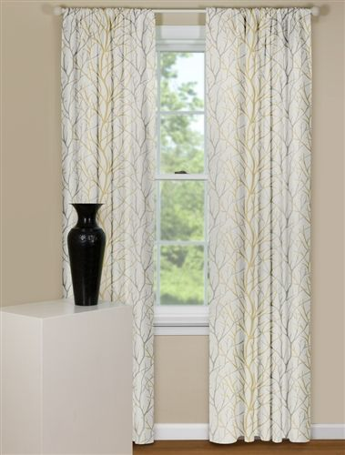 Modern Curtain Panels In Brown And Grey Tree Branch Design Modern Curtains Modern Living Room Lighting Curtains