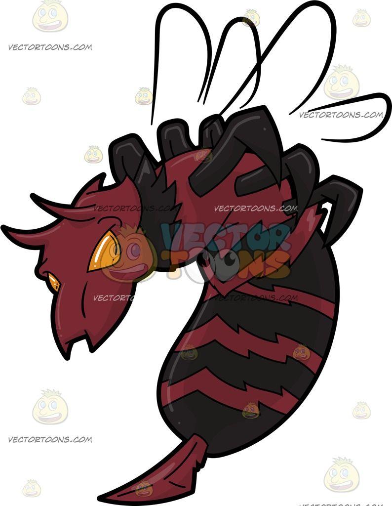 Bürostuhl comic  A Creepy Killer Bee | KillaBee | Bee, Red stripes, Creepy