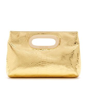 michael michael kors berkley metallic python embossed clutch bags rh ar pinterest com