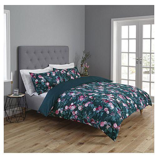 Tesco Direct Fox Amp Ivy Floral Duvet Set Floral Duvet Sets Teal Bedding Sets Duvet Sets