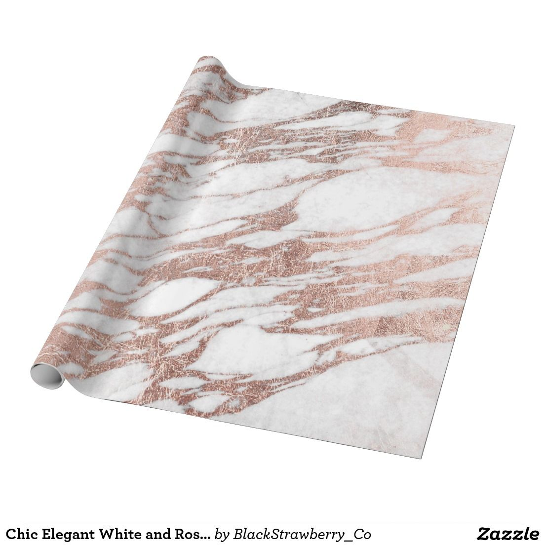 16 Rose Gold And Copper Details For Stylish Interior Decor: Chic Elegant White And Rose Gold Marble Pattern Wrapping