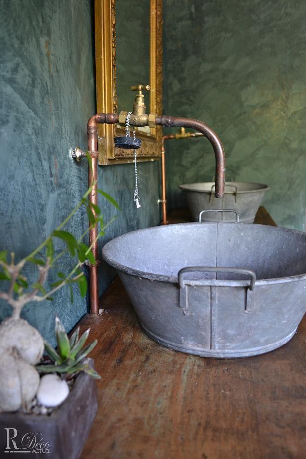 salle de bain de style campagne salle de bain pinterest campagne salle de bains et salle. Black Bedroom Furniture Sets. Home Design Ideas